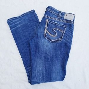 Silver Aiko wide leg jeans size 34 (I)